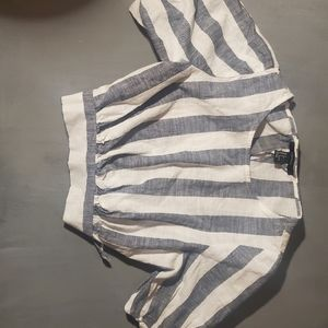 Forever 21 open back crop top striped Small